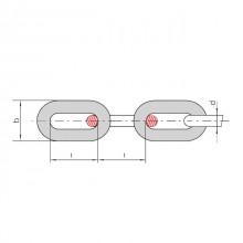 Цепи круглозвенные грузовые и тяговые нормальной прочности длиннозвенные. Класс прочности 3. ТУ 12.0173856.015-88