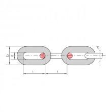 Цепи круглозвенные. Класс прочности 2. DIN 22252